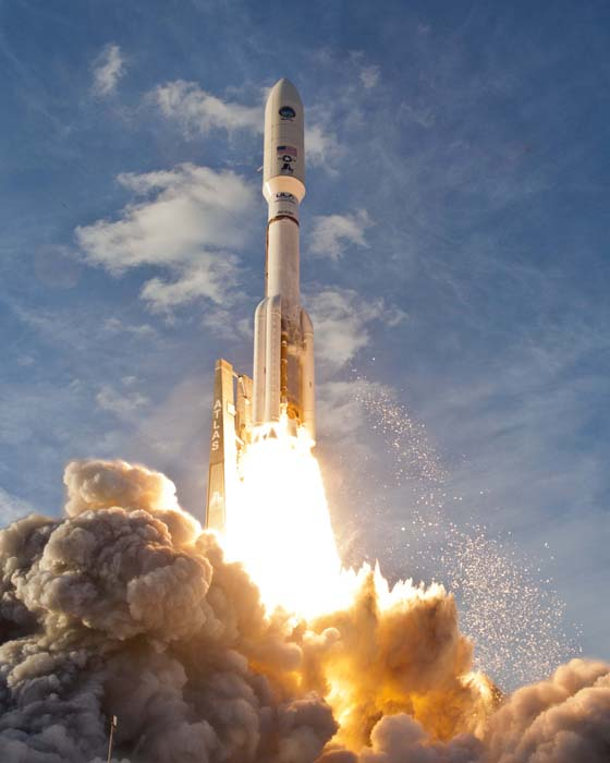 An Atlas 5 lifts off 02/24/12 from the Cape.