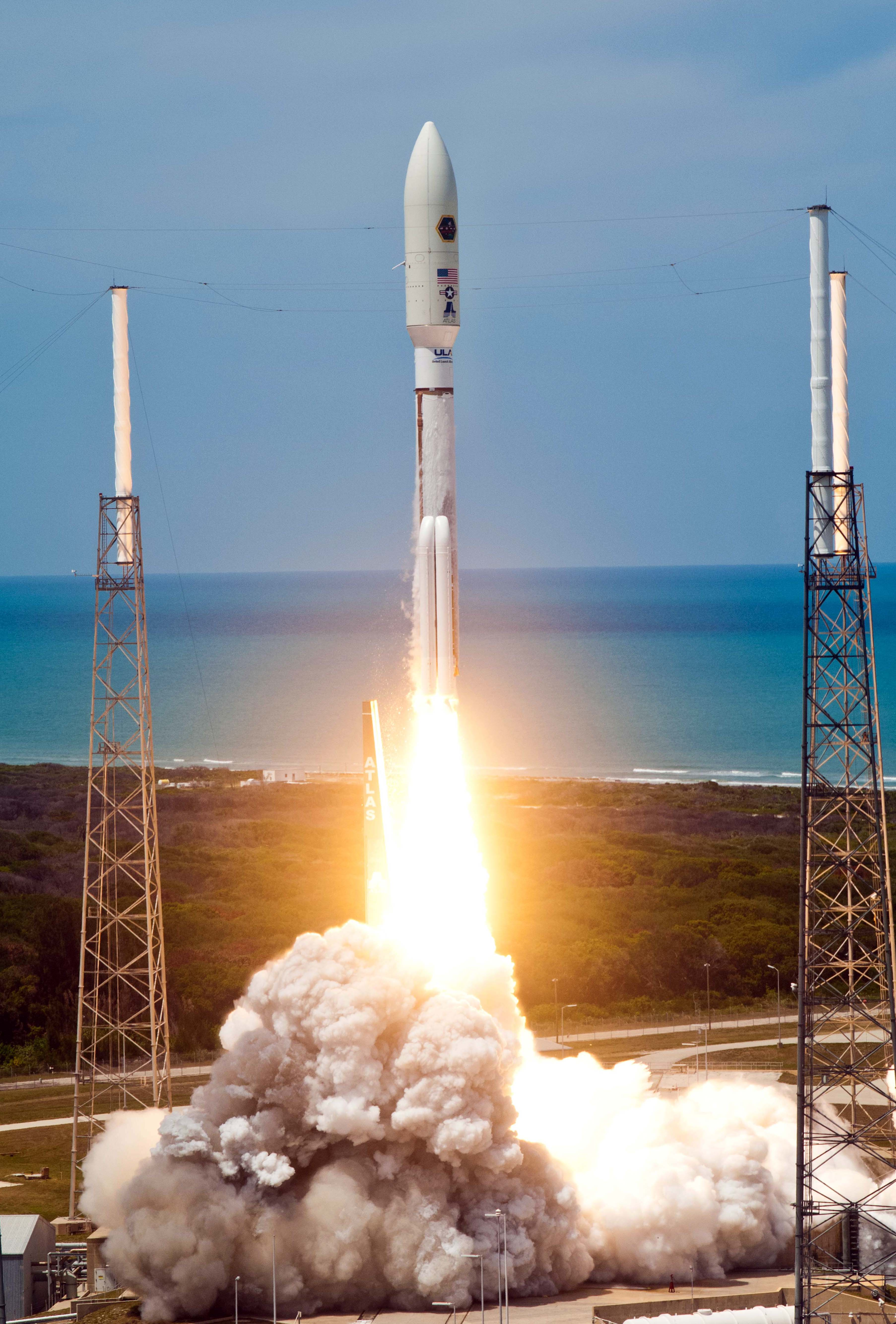 Atlas 5 launches from Cape Canaveral on May 4, 2012